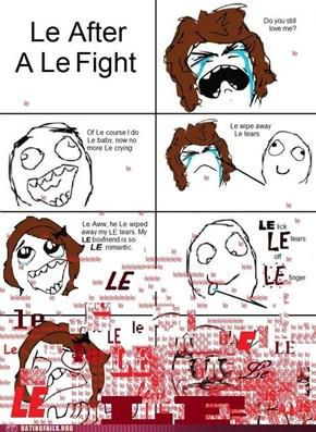 Le OMG This is So Le Sad!