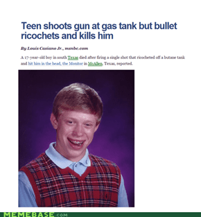 Has a target, shoots self anyway