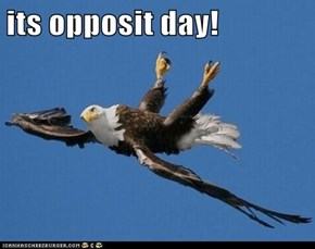 its opposit day!