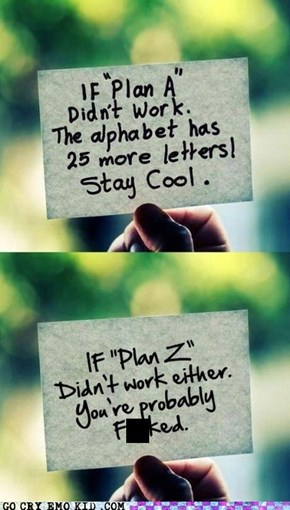 "If You Get Past ""Plan D"" I Think You're Doing Something Wrong"
