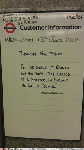 Spotted in the London Underground