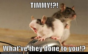 TIMMY!?!  What've they done to you!?