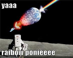 yaaa  raibow ponieeee