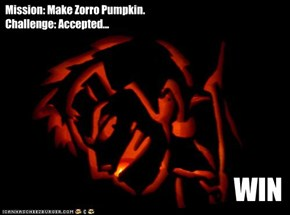 Mission: Make Zorro Pumpkin. Challenge: Accepted...