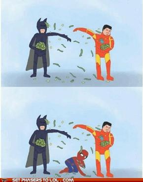 Batman Vs. Iron Man Vs. Spider-Man