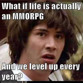 What if life is actually an MMORPG  And we level up every year?