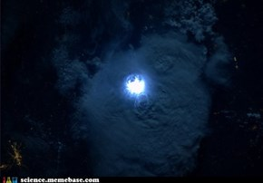 A Lightening Storm Seen from the ISS