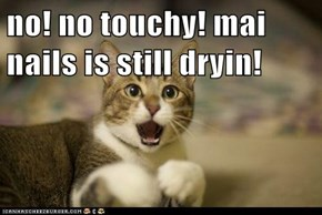 no! no touchy! mai nails is still dryin!