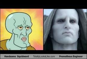 Handsome  Squidward Totally Looks Like Prometheus Engineer