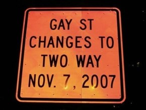 Gay Street Goes Two Ways!