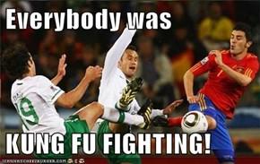 Everybody was  KUNG FU FIGHTING!