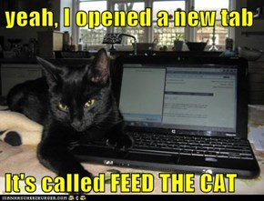 yeah, I opened a new tab  It's called FEED THE CAT