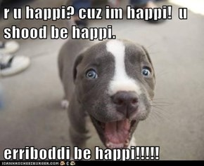 Erriboddi be happi!