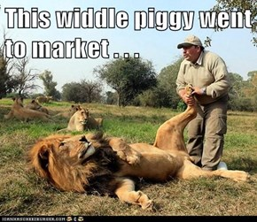 This widdle piggy went to market . . .