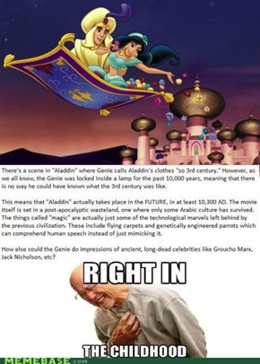 Right in the Agrabah