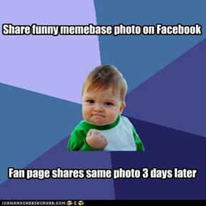 Share funny memebase photo on Facebook