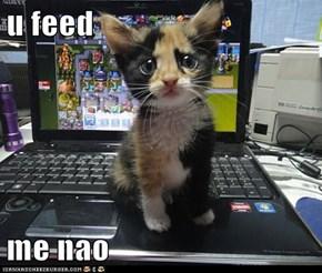 u feed  me nao