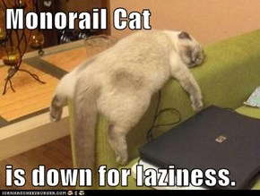Monorail Cat  is down for laziness.