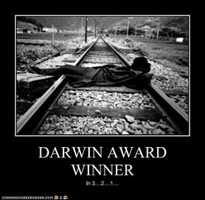 DARWIN AWARD WINNER