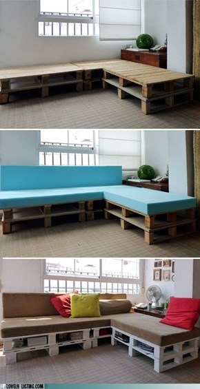 Reclaimed Pallet Sofa is Awesome