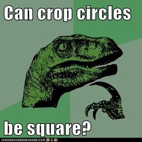 Can crop circles  be square?