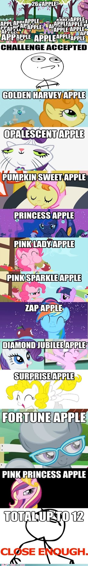 Apples, apples everywhere