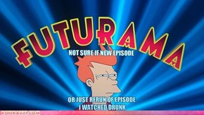 "The Opening Caption From Tonight's Season Premier of ""Futurama"""