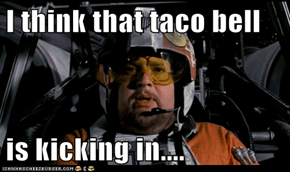 I think that taco bell  is kicking in....