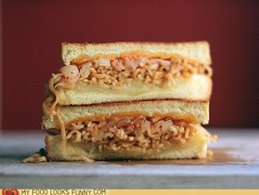 Kimchi Ramen Grilled Cheese Sandwich