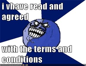 i vhave read and agreed  with the terms and conditions