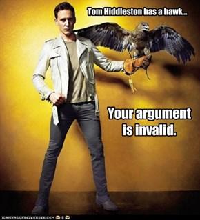 Tom Hiddleston has a hawk...