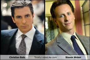 Christian Bale Totally Looks Like Steven Weber