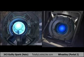 343 Guilty Spark (Halo) Totally Looks Like Wheatley (Portal 2)