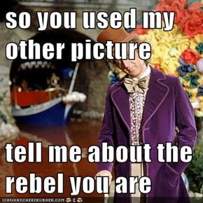 so you used my other picture  tell me about the rebel you are
