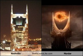 Nashville Totally Looks Like Mordor (Eye of Sauron)
