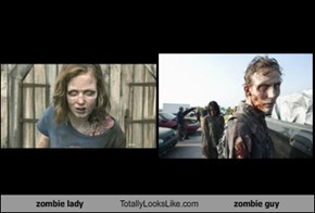 zombie lady Totally Looks Like zombie guy