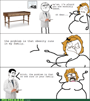 Fat people..