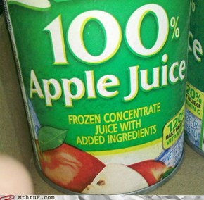 100 Percent of It is Apple Juice