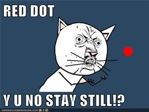 RED DOT  Y U NO STAY STILL!?