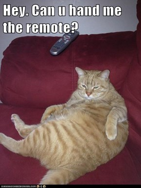 Hey. Can u hand me the remote?