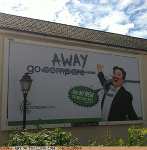 Advertising Fail - Go Away