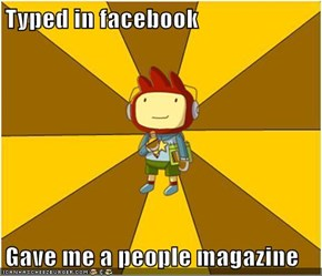 Typed in facebook  Gave me a people magazine
