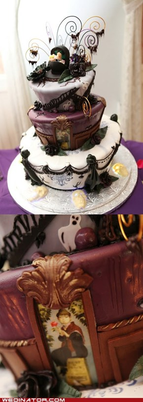 Haunted Mansion Wedding Cake