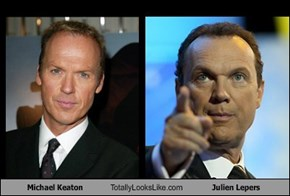 Michael Keaton Totally Looks Like Julien Lepers