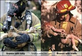 firemen with kitty Totally Looks Like firemen with kiddie