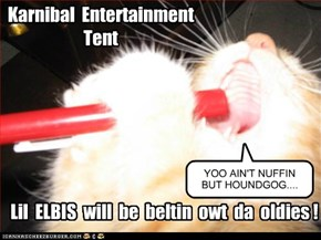 KK2012:  Karnibal dansin an entertainments tent!