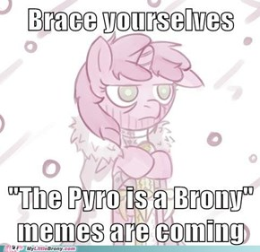 The Pyro is a Brony.