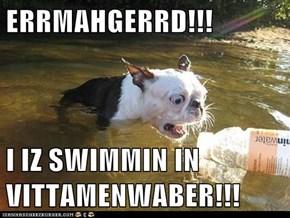 ERRMAHGERRD!!!  I IZ SWIMMIN IN VITTAMENWABER!!!