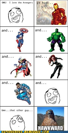 Poor Hawkeye...