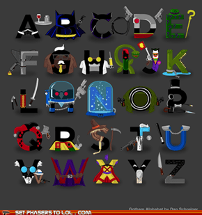 Batman - Gotham Alphabet
